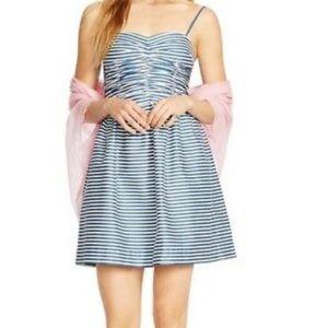 Polo Ralph Lauren Blue and White Striped Sun Dress
